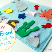"Travel felt board: ""Under the Sea"" play set (free printable templates)"