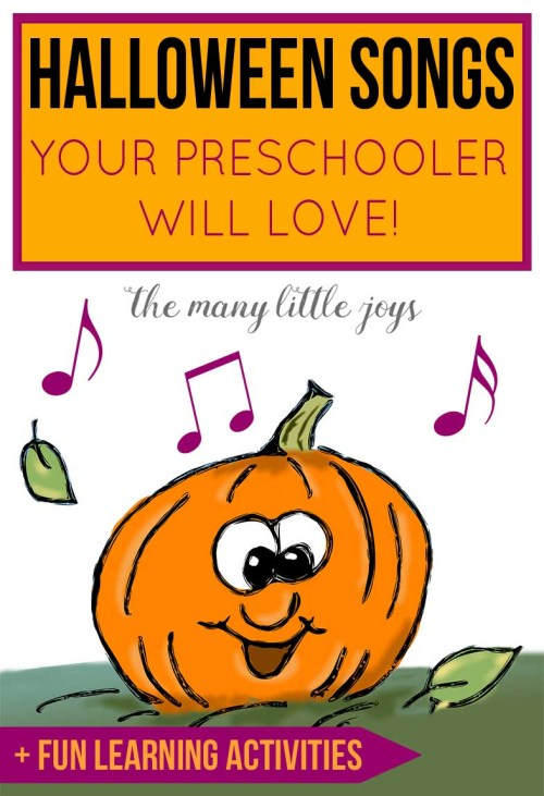 these silly not spooky halloween songs are a great way to get your preschooler