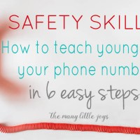 Safety Skills: How to teach your child to memorize his phone number