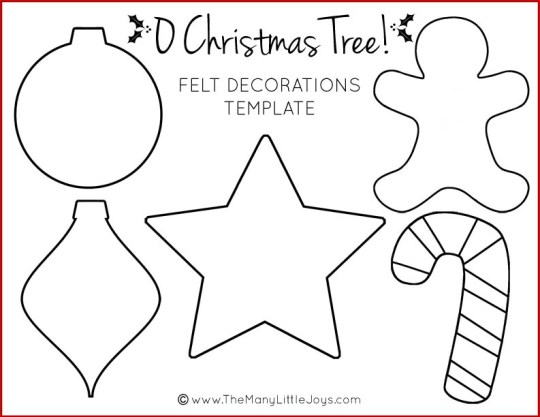 Felt Christmas tree for kids (with printable templates ...