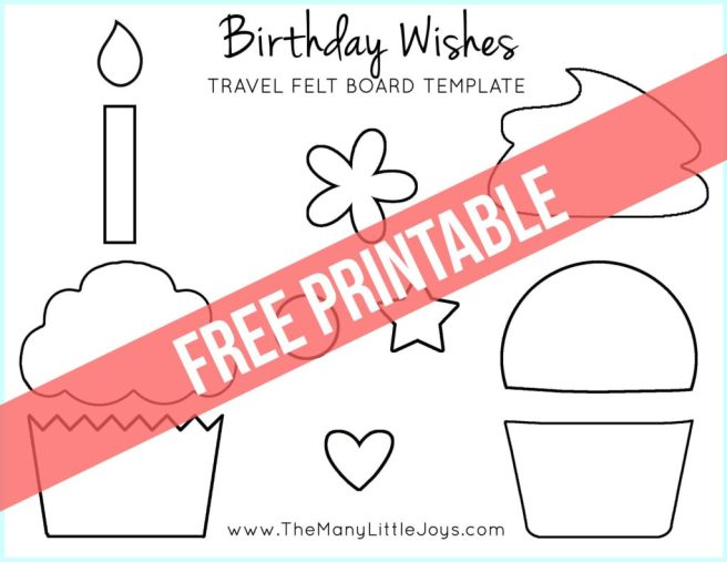 """Travel felt boards are a great activity for kids stuck on a plane or waiting in a restaurant. This fun """"Birthday Wishes"""" cupcake play set is a celebratory addition to the felt board sets I've shared in the past."""