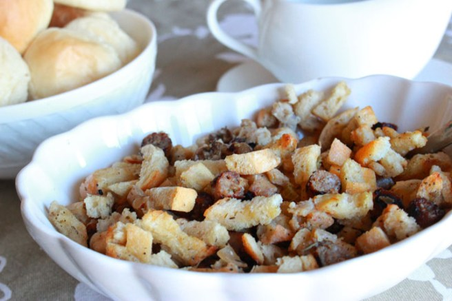 This light and fluffy apple sausage stuffing is the perfect side dish for Thanksgiving dinner. It's so good, you'll want to make it more than once a year.