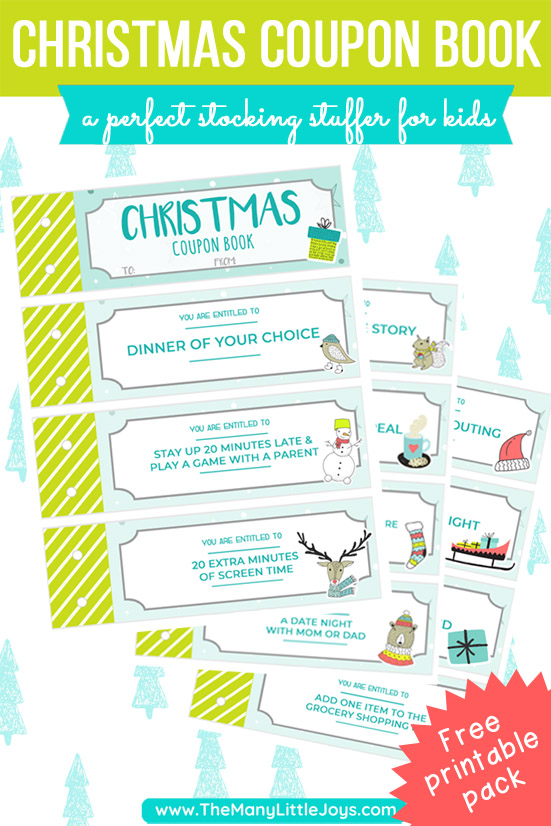 image about Printable Coupon Book called Printable Xmas coupon reserve for little ones (or all people!) - The