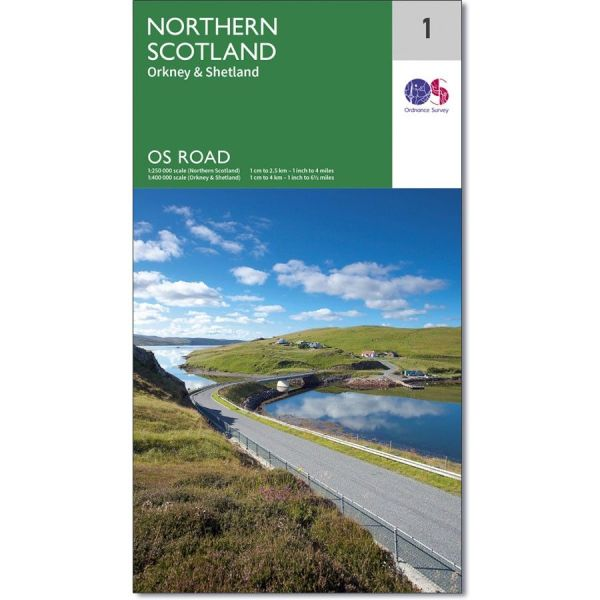 Ordnance Survey Road Map 1   Northern Scotland