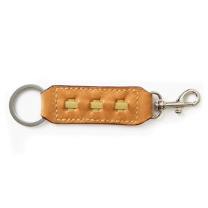 Key Ring and Clasp-Hazelnut Brown