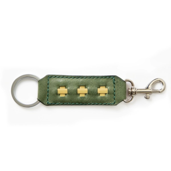 olive green key ring and clasp