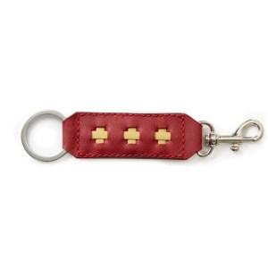 Key Ring and Clasp-Ruby Red