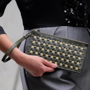 Cadenza Clutch, Olive Green