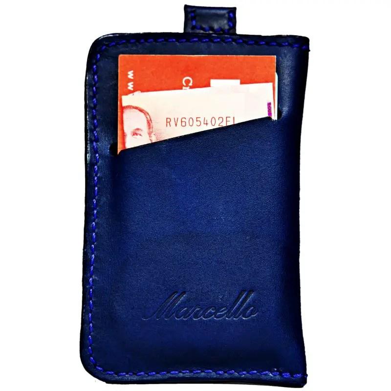 marine blue wallet back