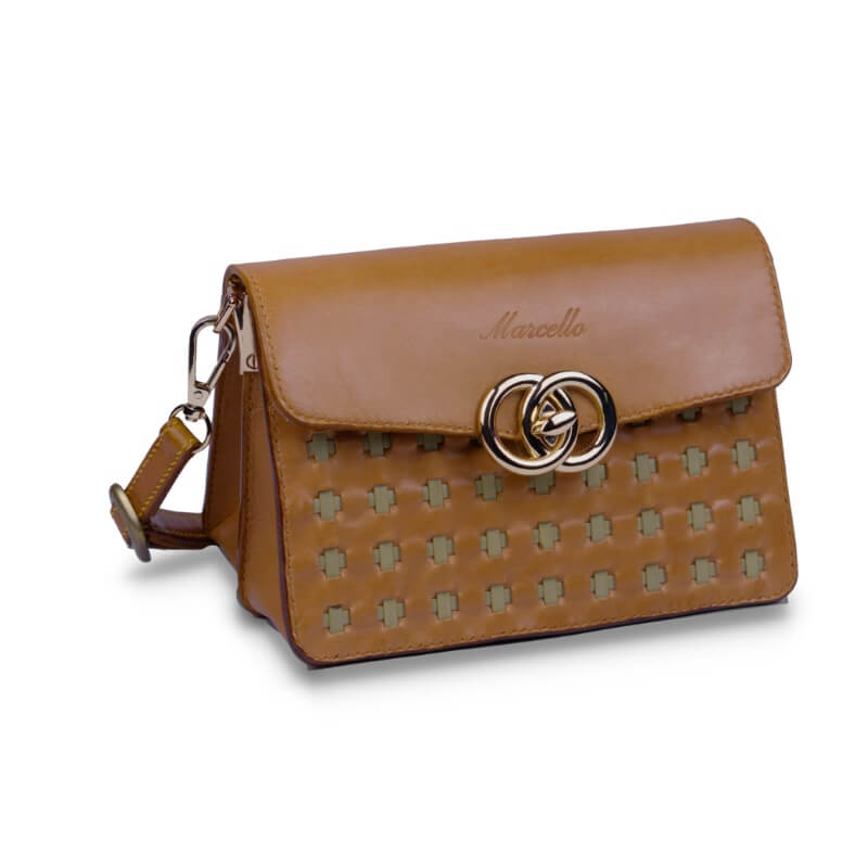 mini crossbody purse brown