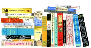 Illustrated Bookshelves of Famous Artists' and Writers' Favorite Books