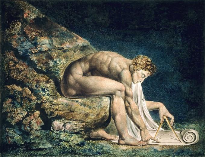 Newton at work by William Blake (1795-1805)