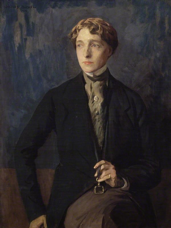 Radclyffe Hall by Charles Buchel, 1918 (National Portrait Gallery/)