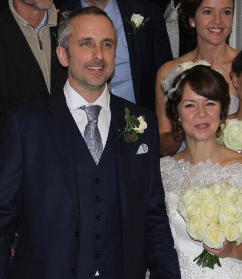 Nick and Sam - happy bride and groom