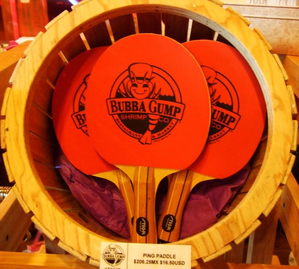 The Bubba Gump Shrimp Company Table Tennis Bats