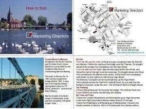 Map to find The Marketing Directors Marketing Consultancy in Marlow, Buckinghamshire, SL7 2FF