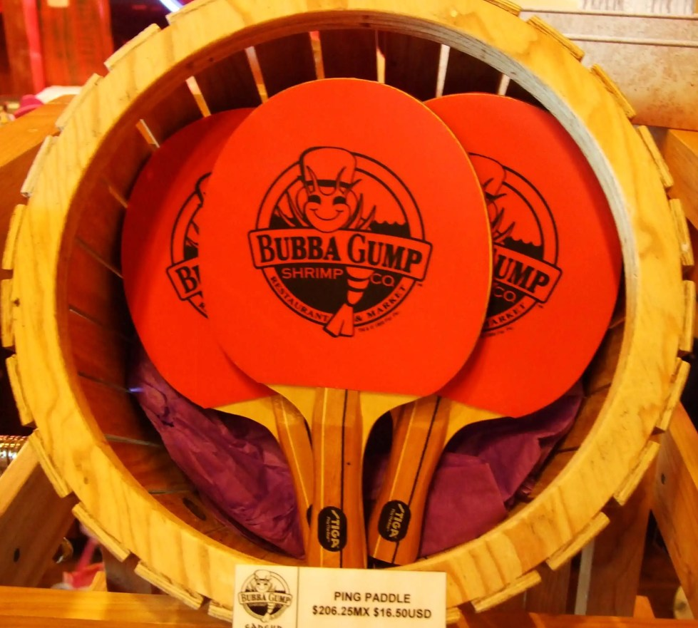 Bubba Gump Table Tennis Bats (Paddles) in the Market