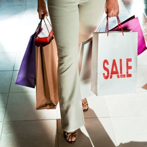 Photo of woman shopping with marketing examples from the High Street