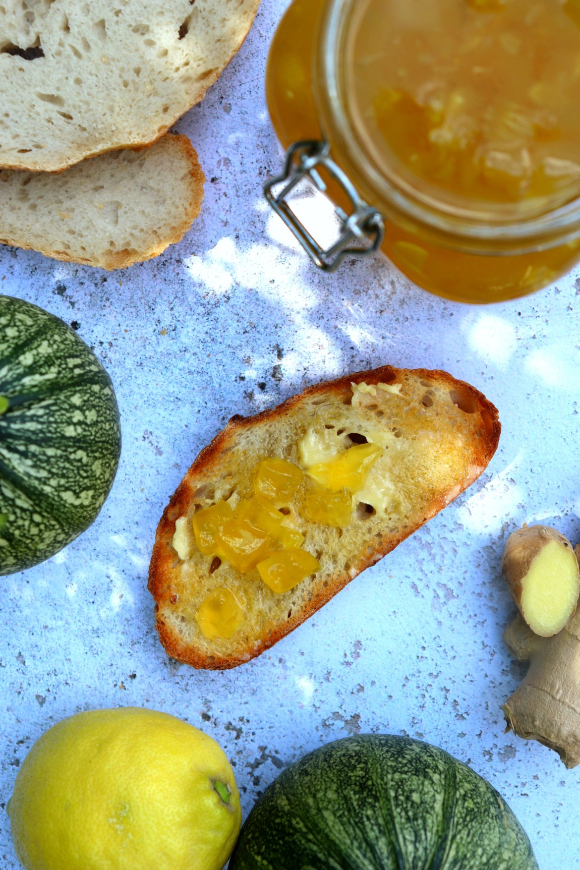 Courgette Jam on toast