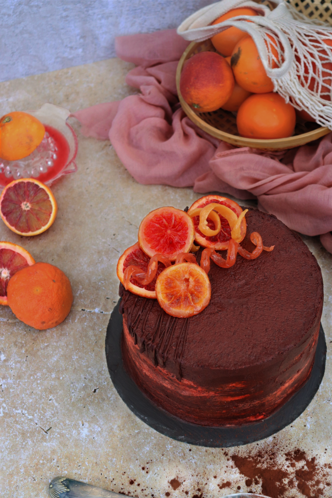 Chocolate & Blood Orange Cake
