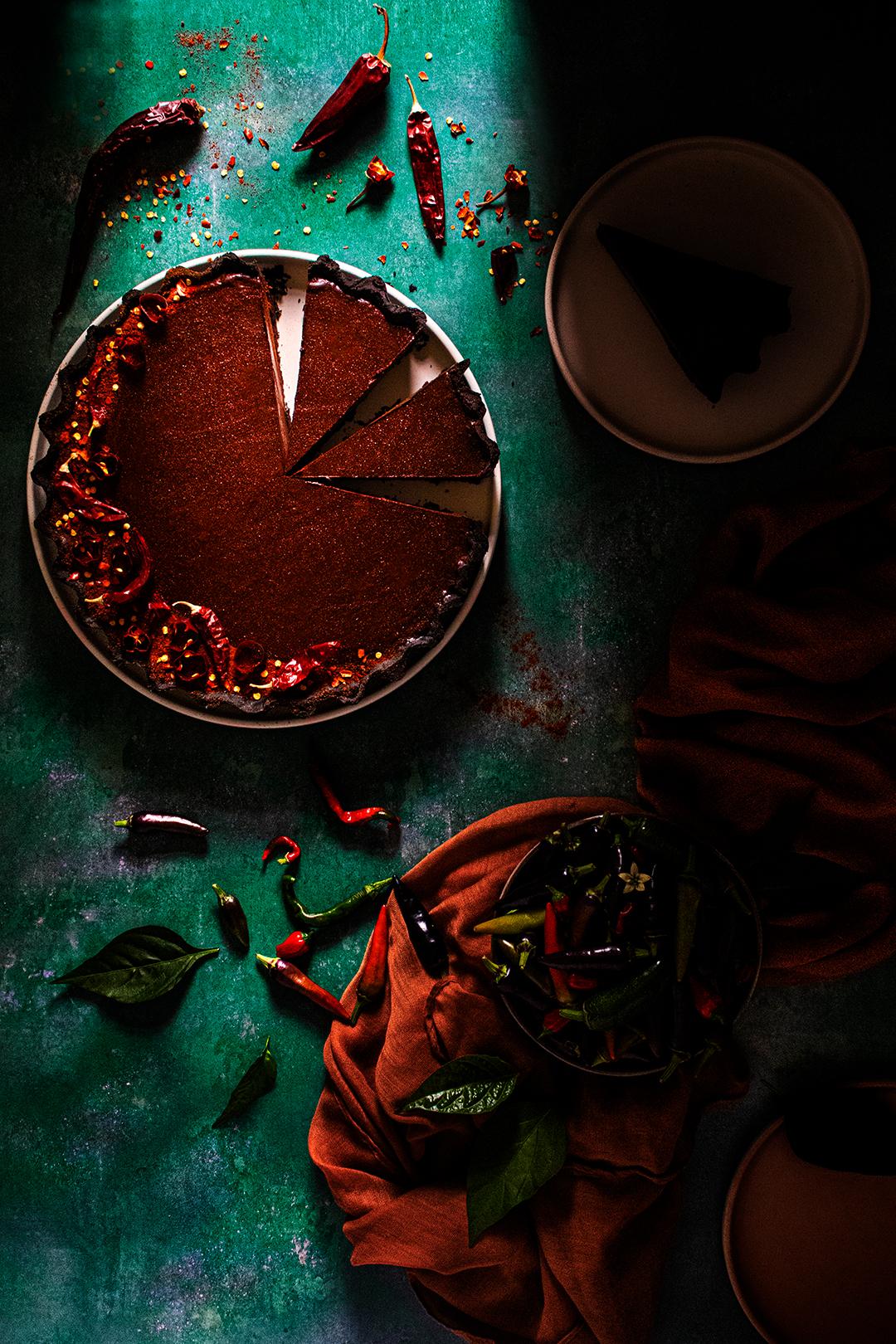 Chocolate & Chilli Tart