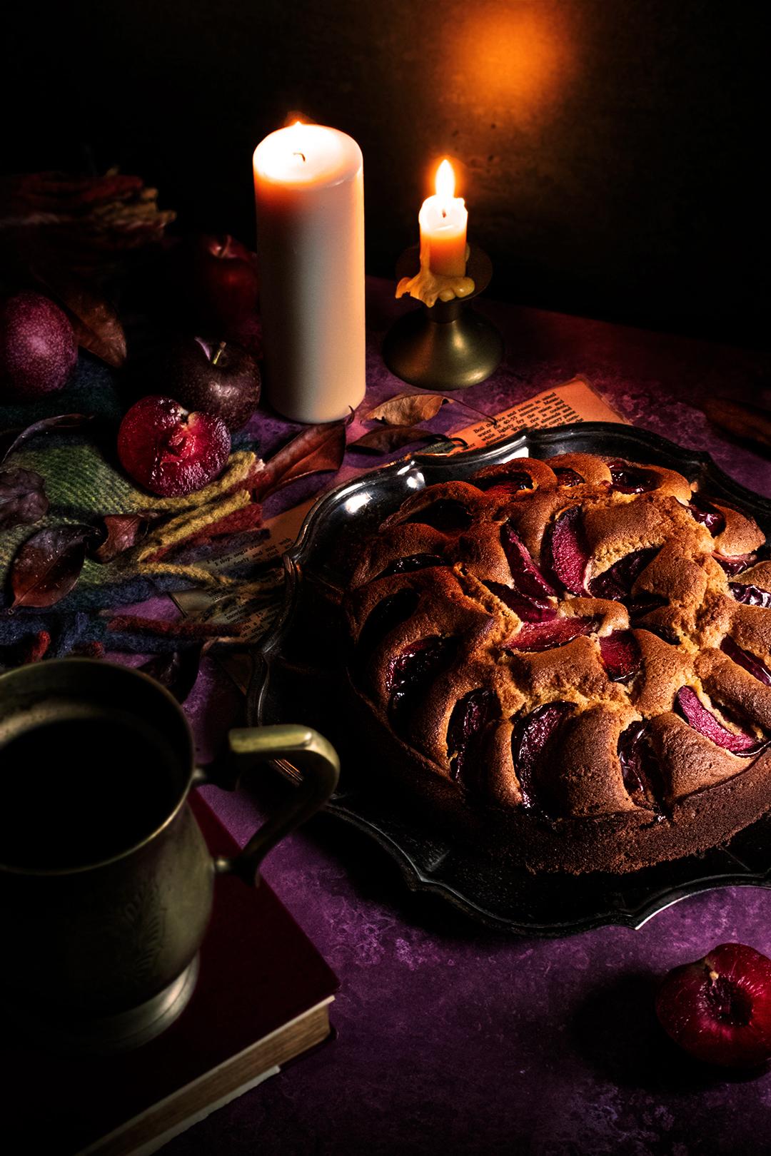 Plum & Ginger Cake