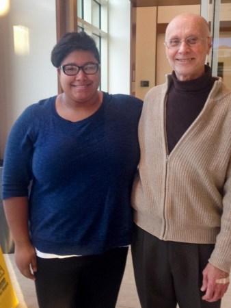 Noelle Bauman helped bring Gerhard to Muskingum University.