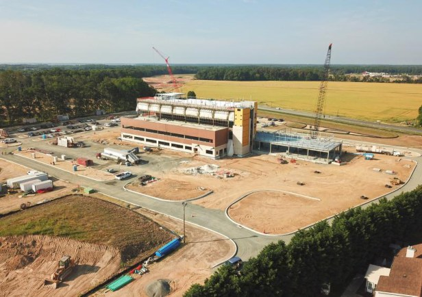 Construction of the Beebe Specialty Surgical Hospital Campus is on target for a mid- to late-2022 opening. The facility will share access with the current Route 24 campus. Warrington Road is west of the facility. - Photo by Nick Roth