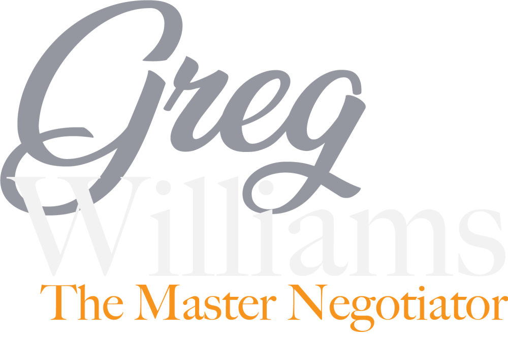 Greg Williams, The Master Negotiator Logo