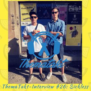 Rapper und Labelboss Sickless bei ThemaTakt im Interview. Links neben ihm Interviewer Tobias Wilinski