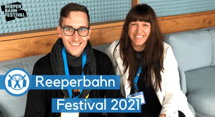 Tobias Wilinski (ThemaTakt) neben Andreea Gleeson (TuneCore-CEO) auf dem Reeperbahn-Festival.