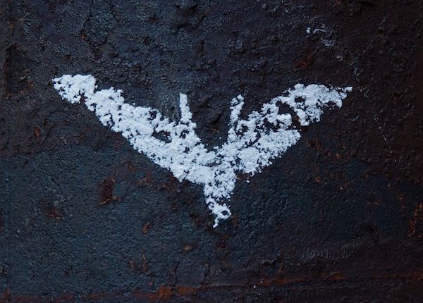 The Dark Knight Rises chalk symbol
