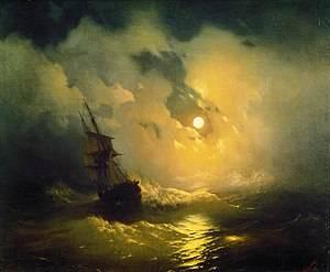 Η τρικυμισμένη θάλασσα τη νύχτα, 1849, Αγία Πετρούπολη, Ανάκτορο Pavlovsk