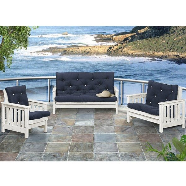 Charlene 3pc Sleepercouch Set with Cushions (Rustic)