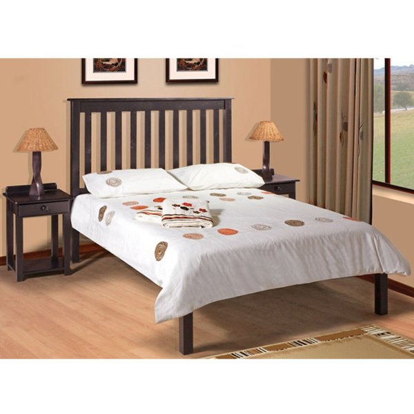 Charlene Low-Foot Bed (Mahogany) - King Bed