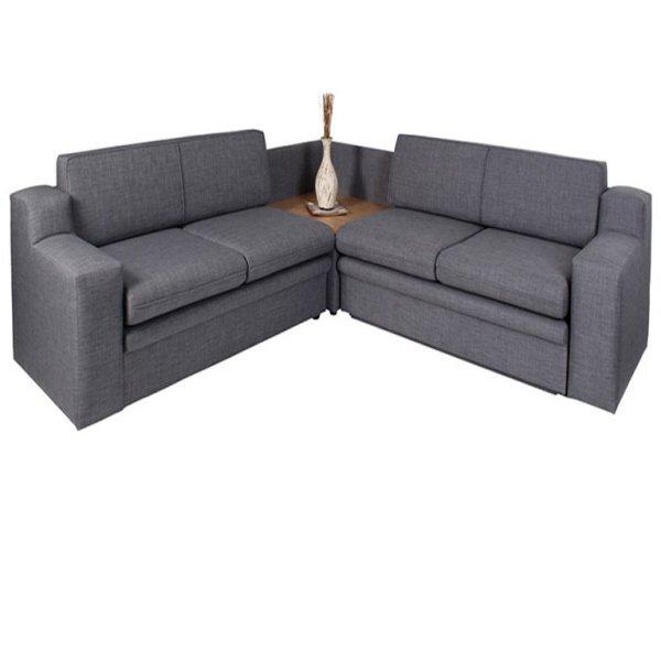 Delft 3pc Sleeper Couch (Double, Corner, Double)