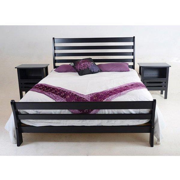 Magaliesberg Sleigh Bed (Mahogany) - Single Bed