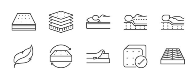Types of memory foam.