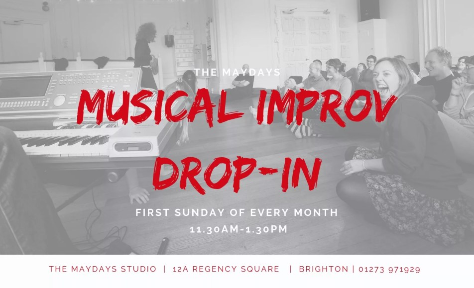 POSTPONED – Musical Improv Comedy Drop-In Brighton