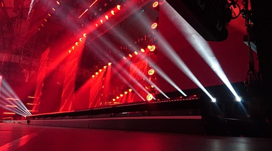 lights on a large stage