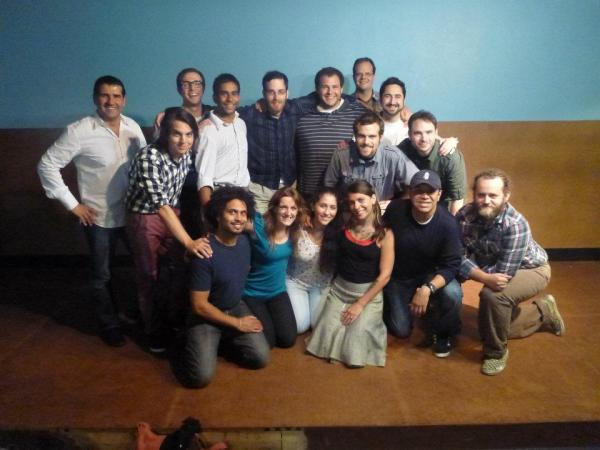 group picture of happy improvisers.
