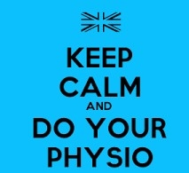 keep calm and do your physio