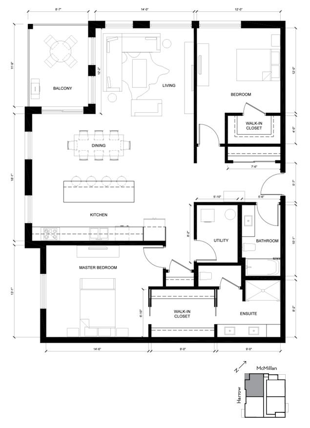 Suite A Wellington 2D Floorplan
