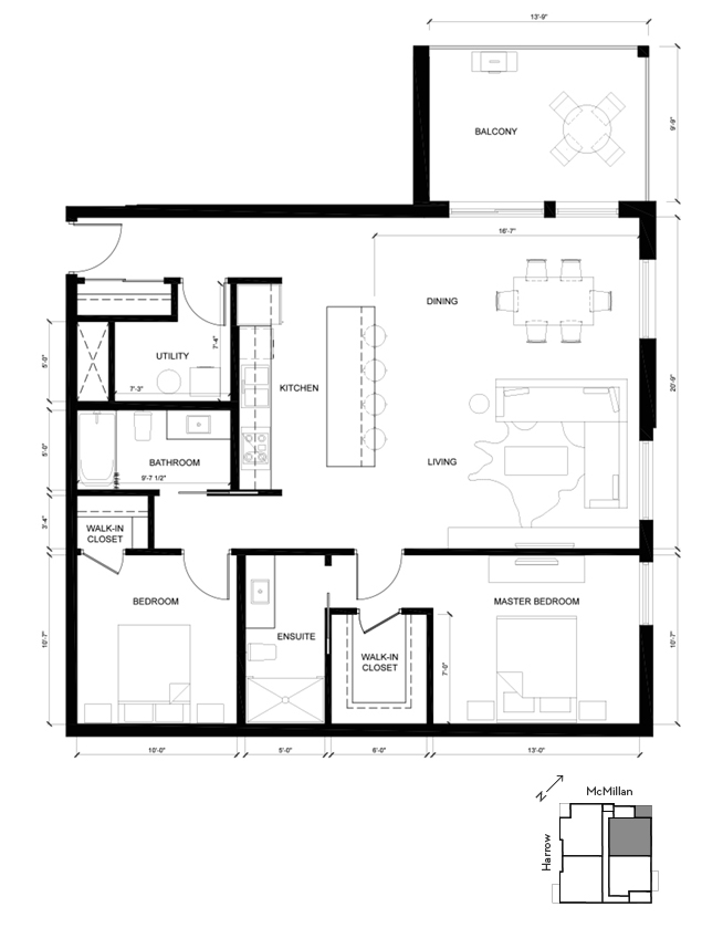Suite C Yale 2D Floorplan