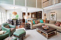 Designer Family Room - McMullin Design Group
