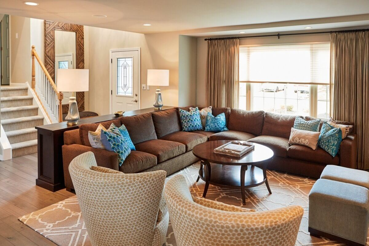 Custom Living Room - McMullin Design Group