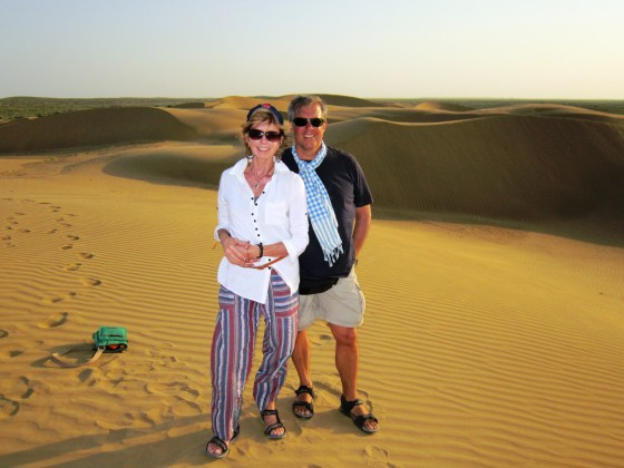 Out of towner sun downers digging the Thas Desert.