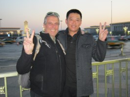 Random Chinese man insisted on having his photo taken with me in Tiananmen Square and threw his arm around my shoulder.