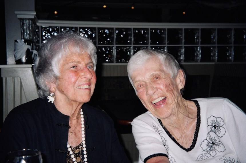 Mom and her dear friend Eleanor Starbuck, also no longer with us. They were quite a pair together.