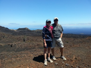 On the lava fields.